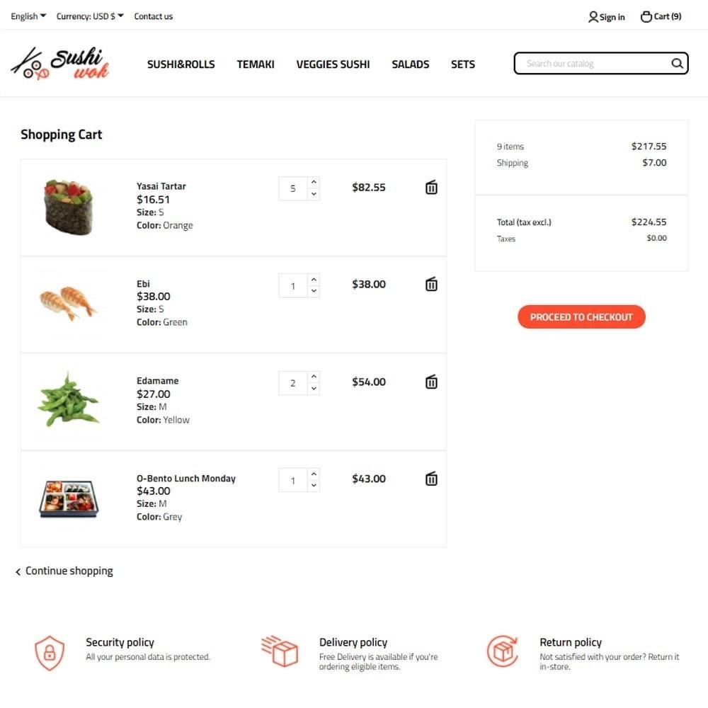 theme - Gastronomía y Restauración - Sushi Wok - 7