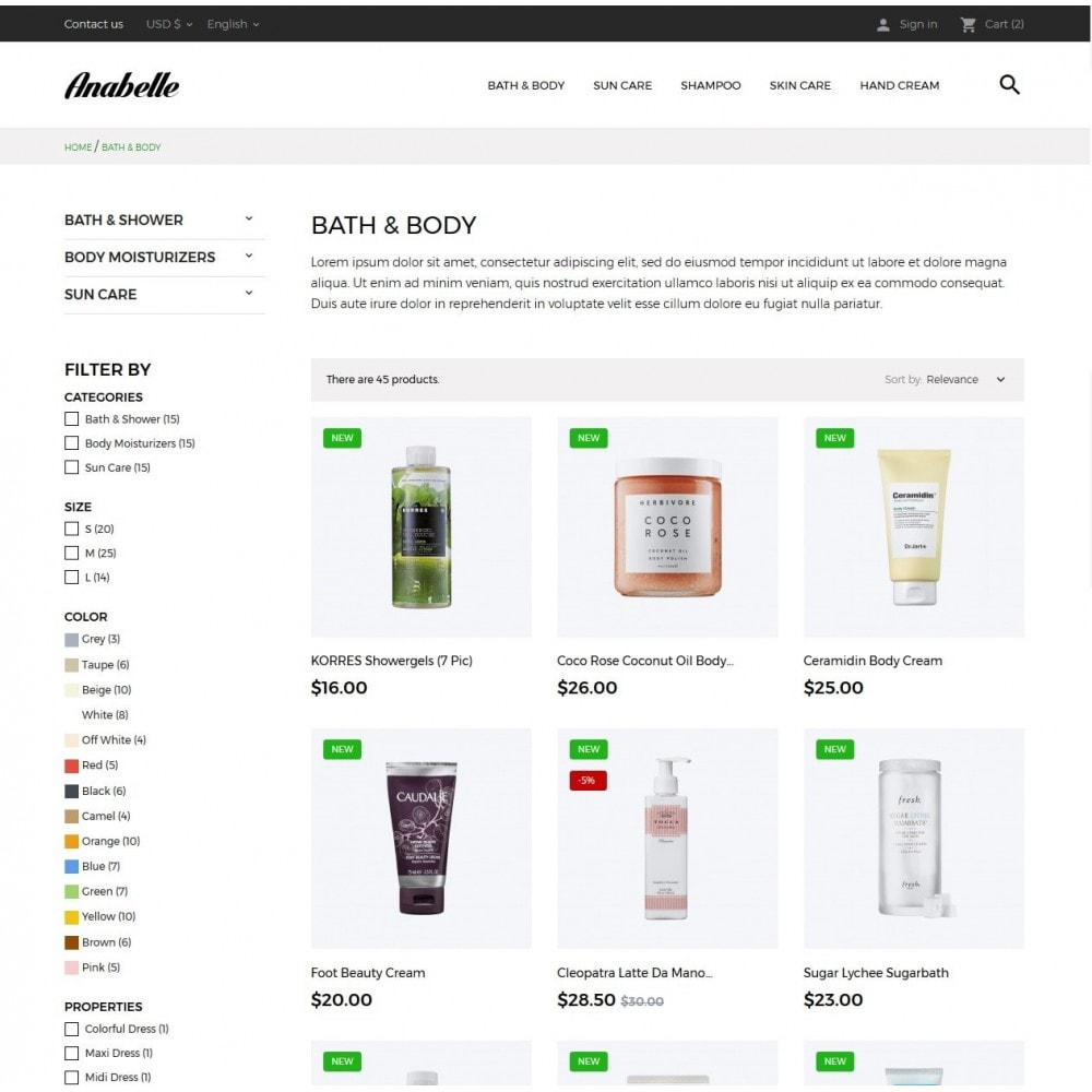theme - Health & Beauty - Anabelle Cosmetics - 5