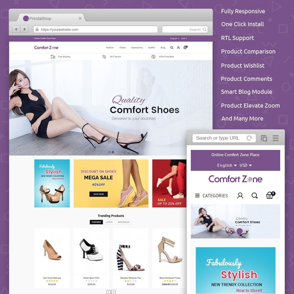 theme - Mode & Chaussures - Comfort Zone Shoes Store - 1