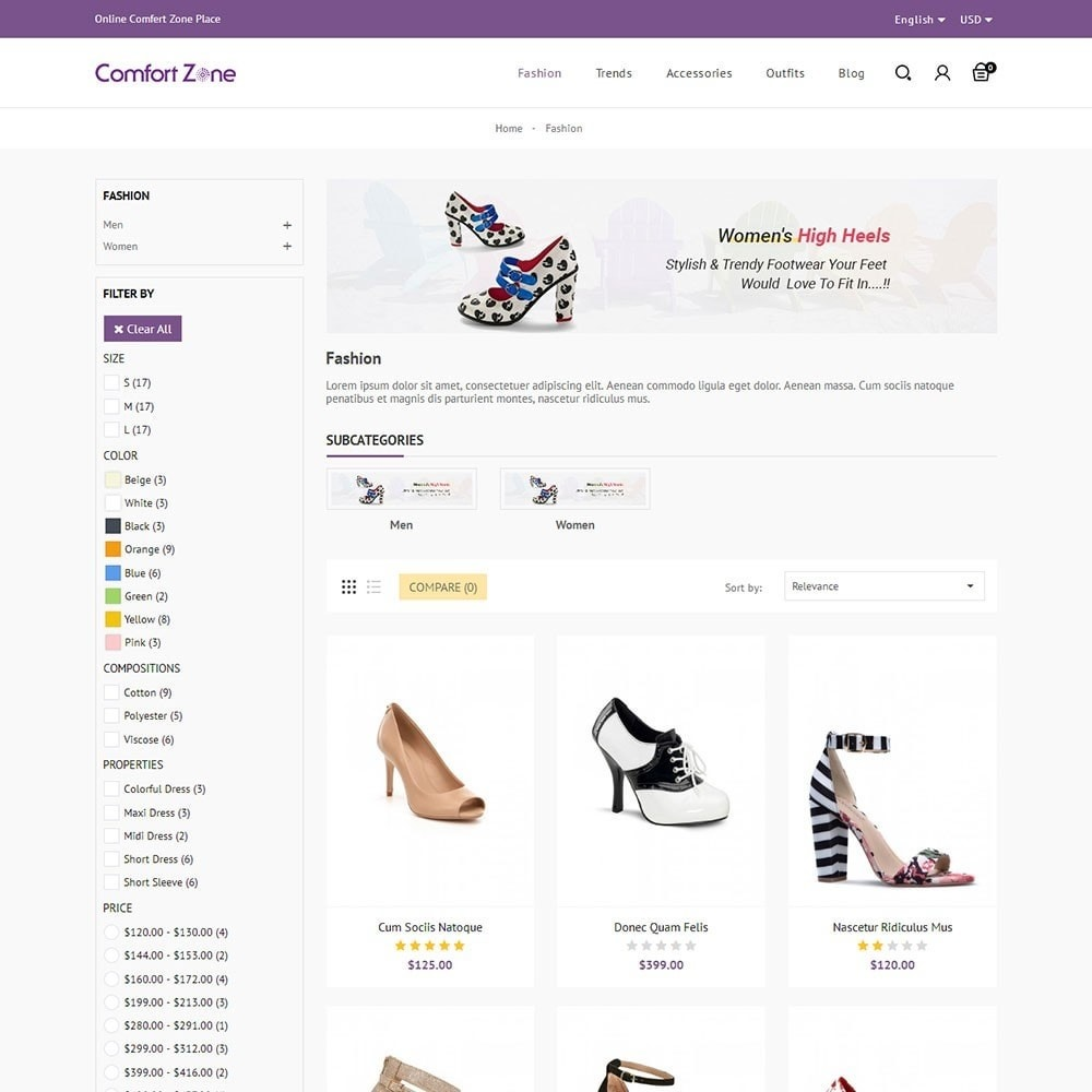 theme - Mode & Chaussures - Comfort Zone Shoes Store - 3