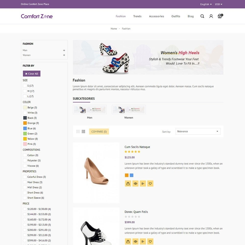 theme - Mode & Chaussures - Comfort Zone Shoes Store - 4