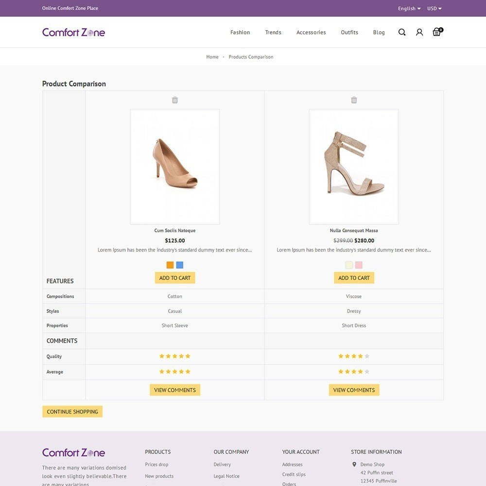 theme - Mode & Chaussures - Comfort Zone Shoes Store - 7