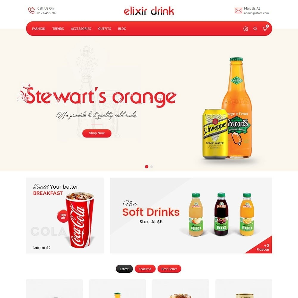 theme - Drink & Wine - Elixir Drink Store - 2