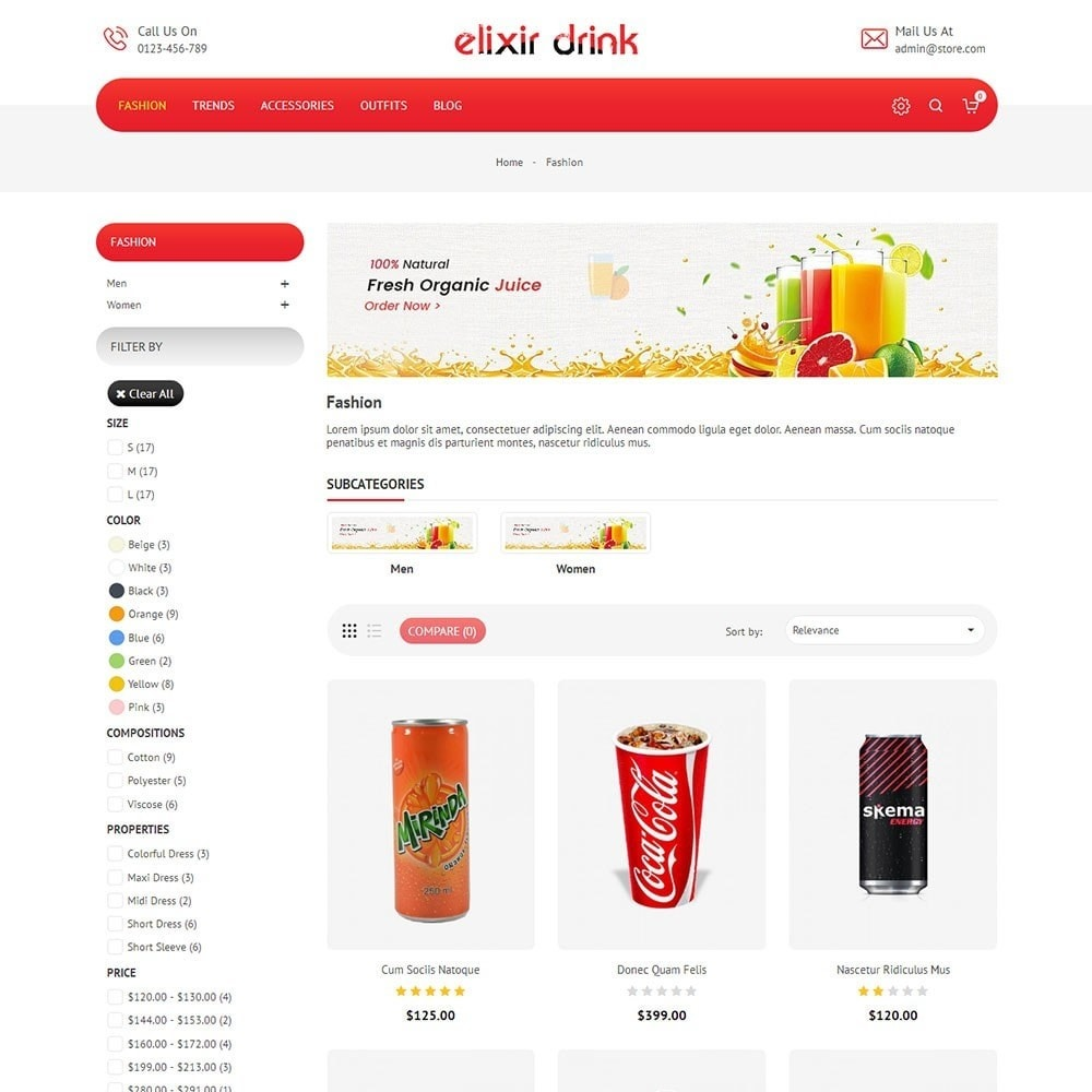 theme - Drink & Wine - Elixir Drink Store - 3