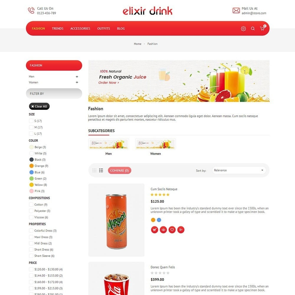 theme - Drink & Wine - Elixir Drink Store - 4