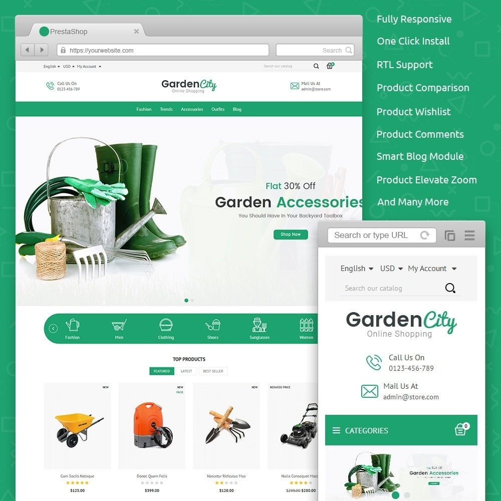 theme - Casa & Jardins - Garden City Store - 1