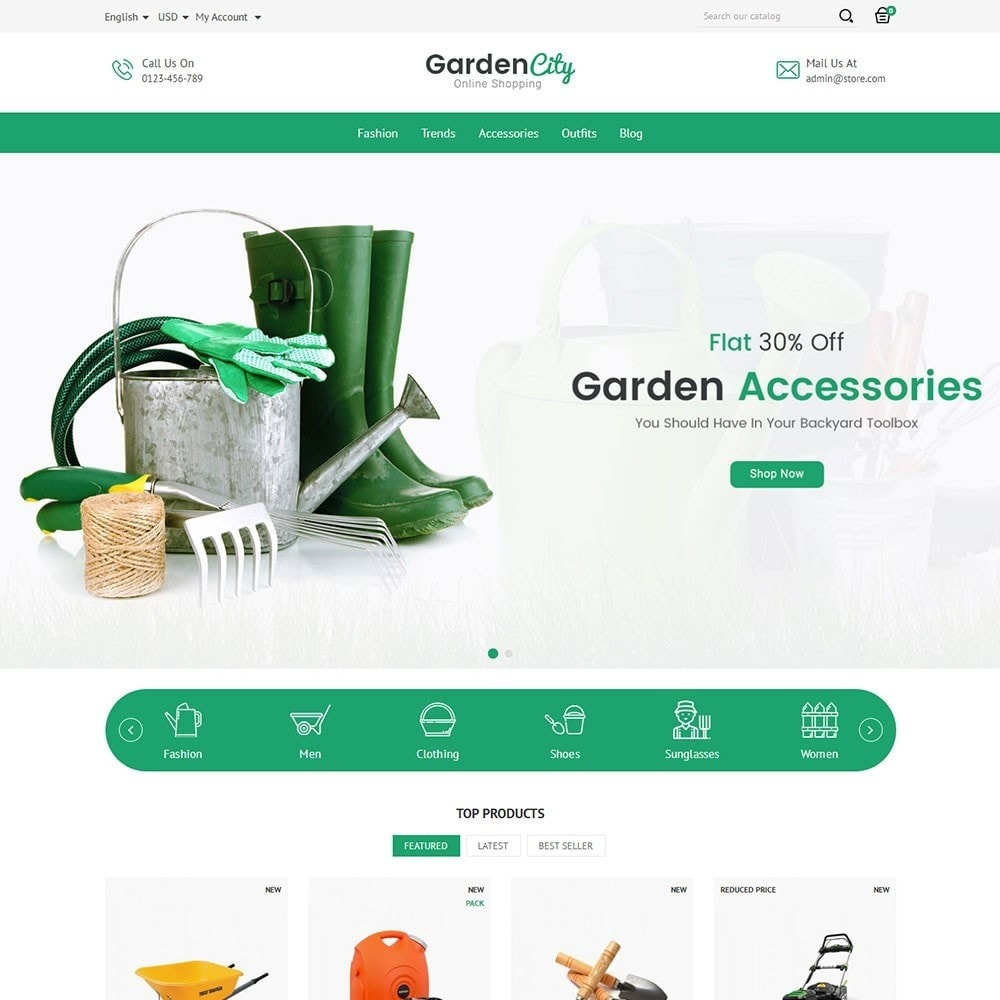 theme - Casa & Jardins - Garden City Store - 2