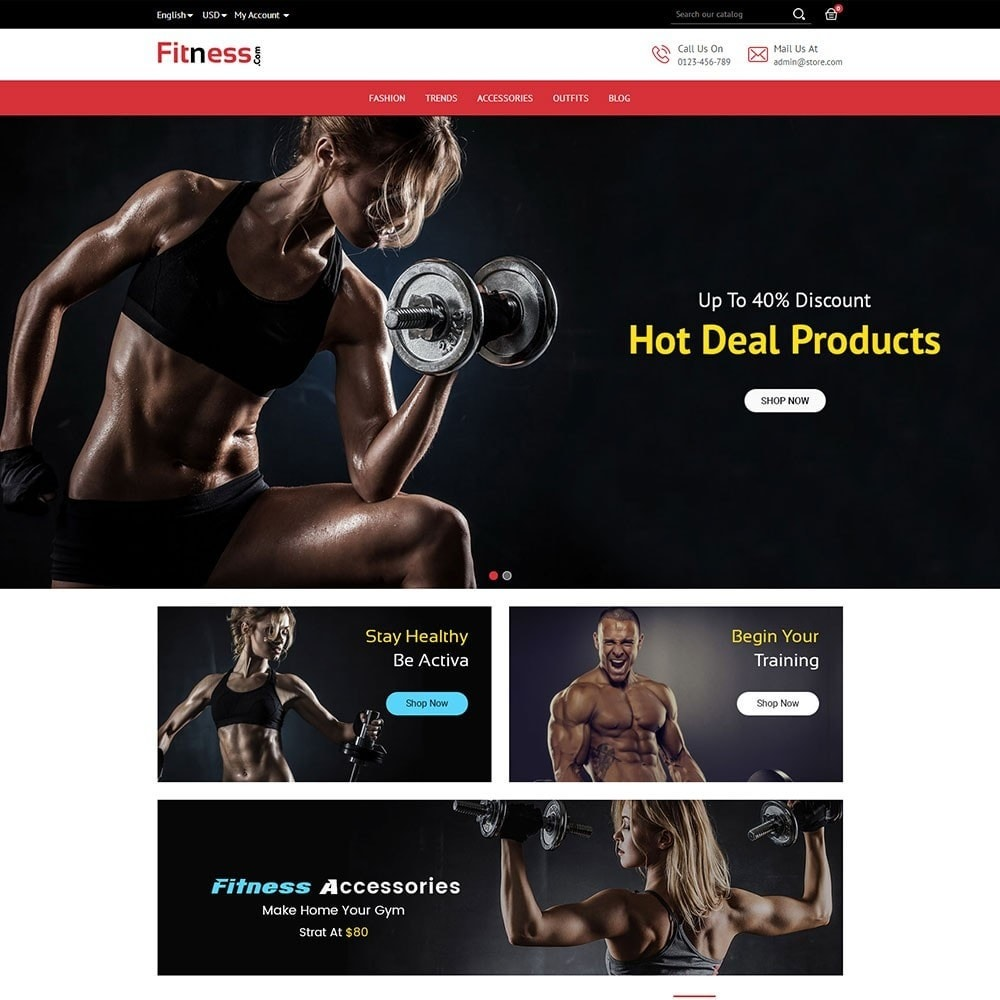 theme - Deportes, Actividades y Viajes - Fitness Store - 2