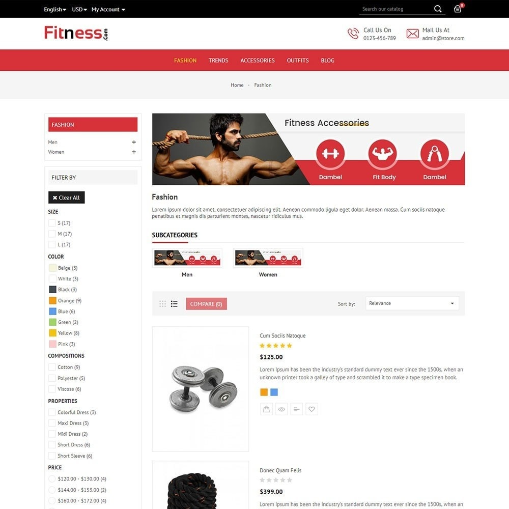theme - Deportes, Actividades y Viajes - Fitness Store - 3