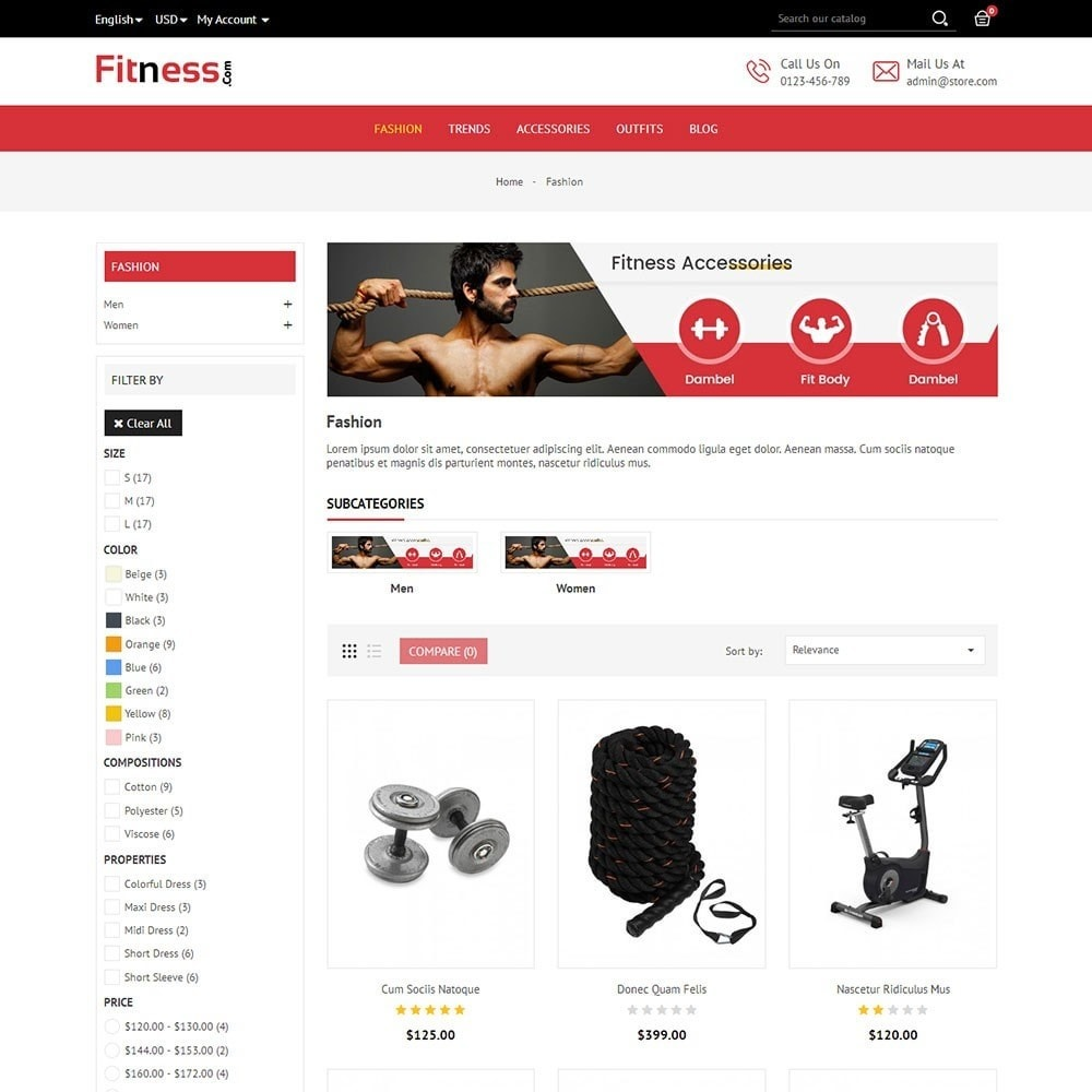 theme - Deportes, Actividades y Viajes - Fitness Store - 4