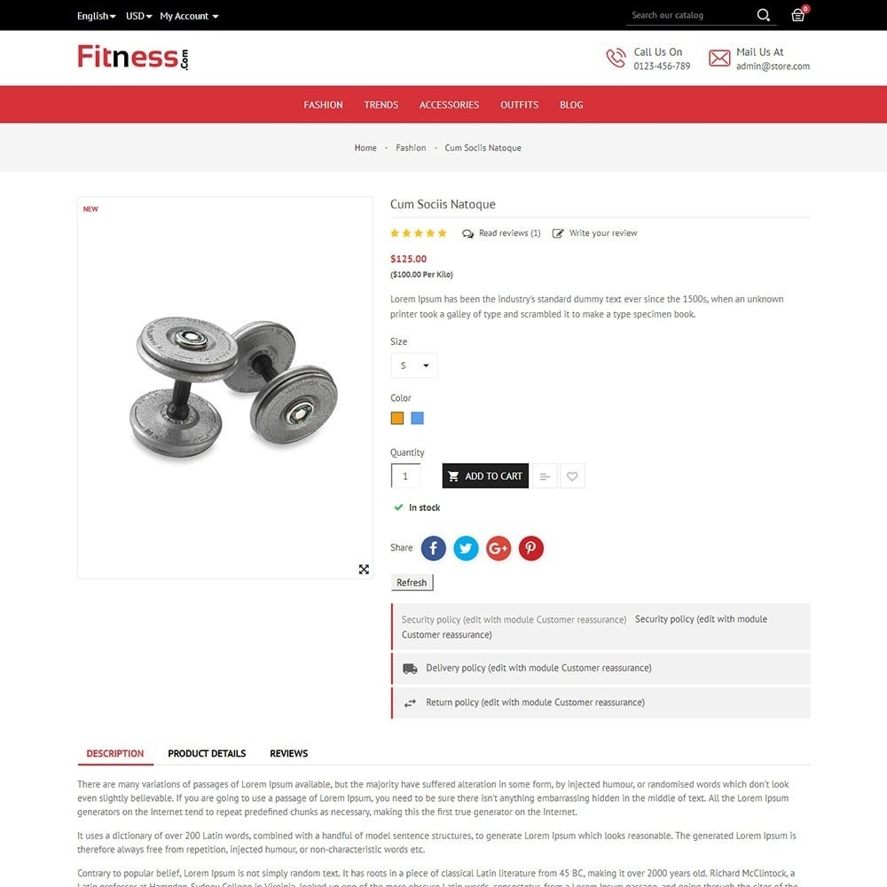theme - Deportes, Actividades y Viajes - Fitness Store - 5