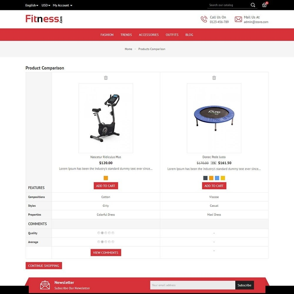 theme - Deportes, Actividades y Viajes - Fitness Store - 7