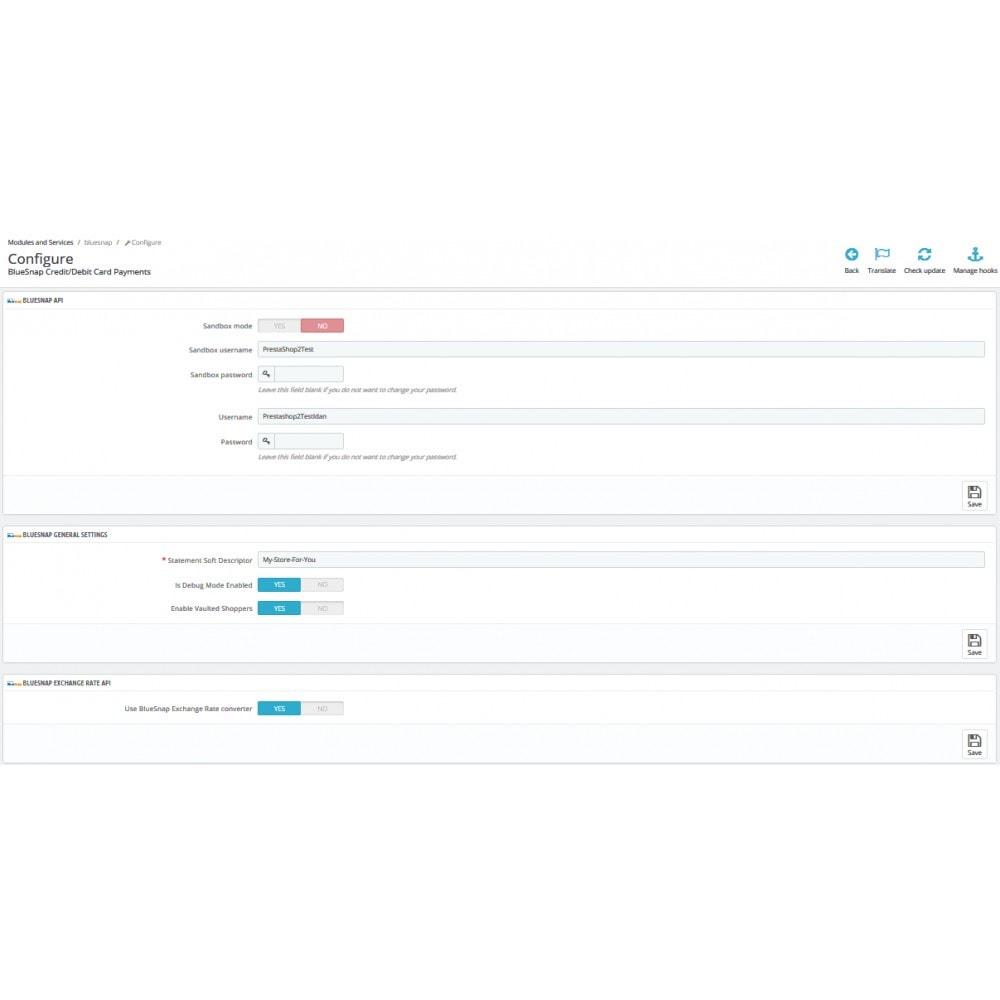 module - Pagamento con Carta di Credito o Wallet - BlueSnap - 2