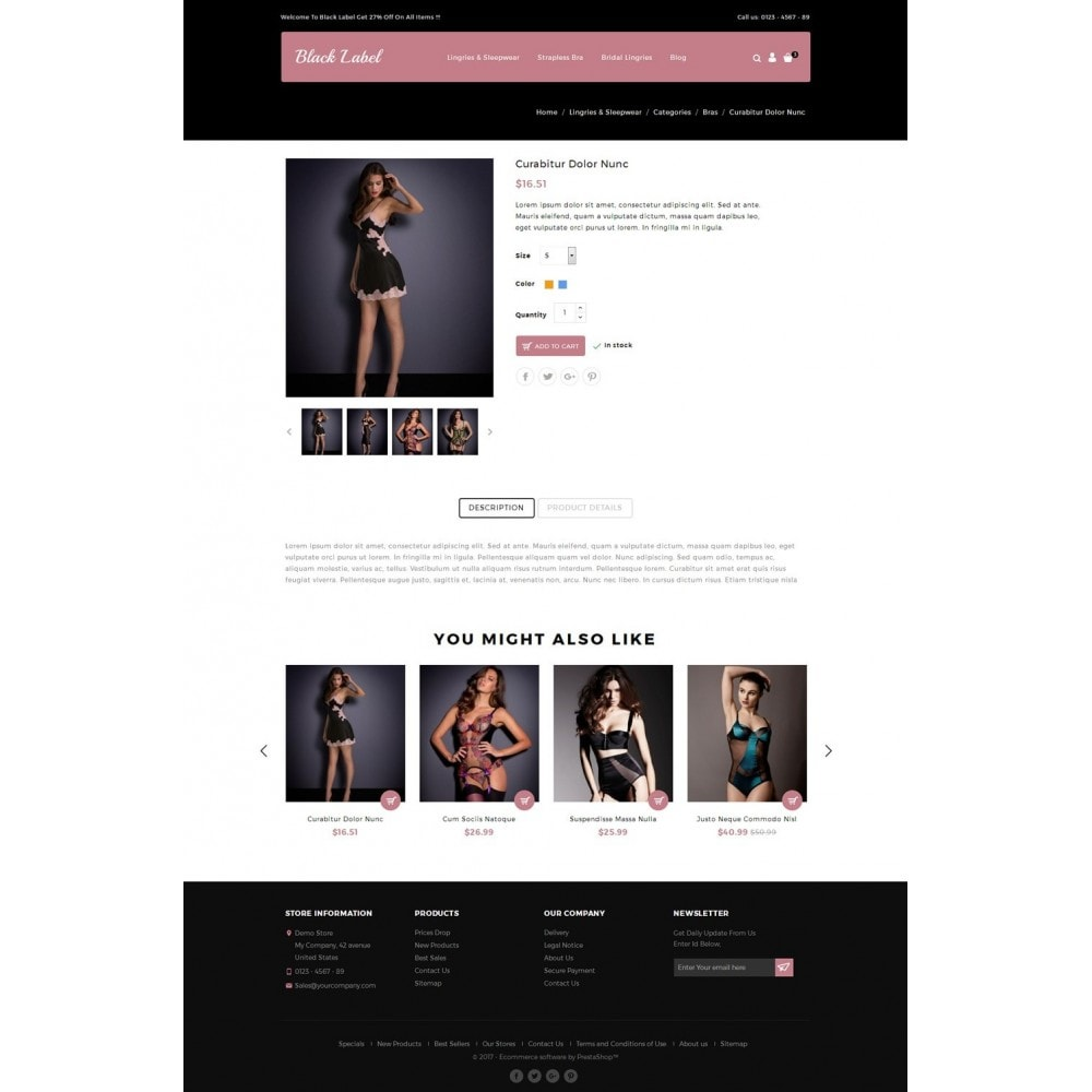 theme - Lingerie & Erwachsene - Black Label - Lingories Store - 4