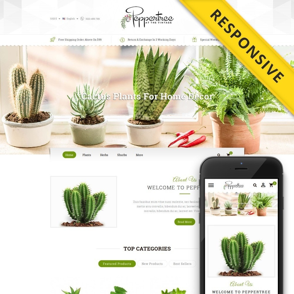 theme - Дом и сад - Peppertree - Garden Plants Store - 1