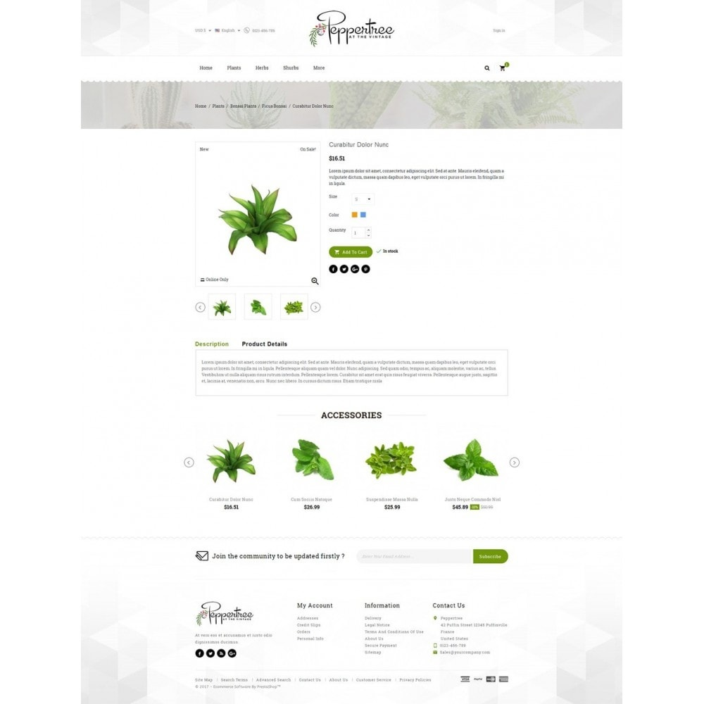 theme - Дом и сад - Peppertree - Garden Plants Store - 5