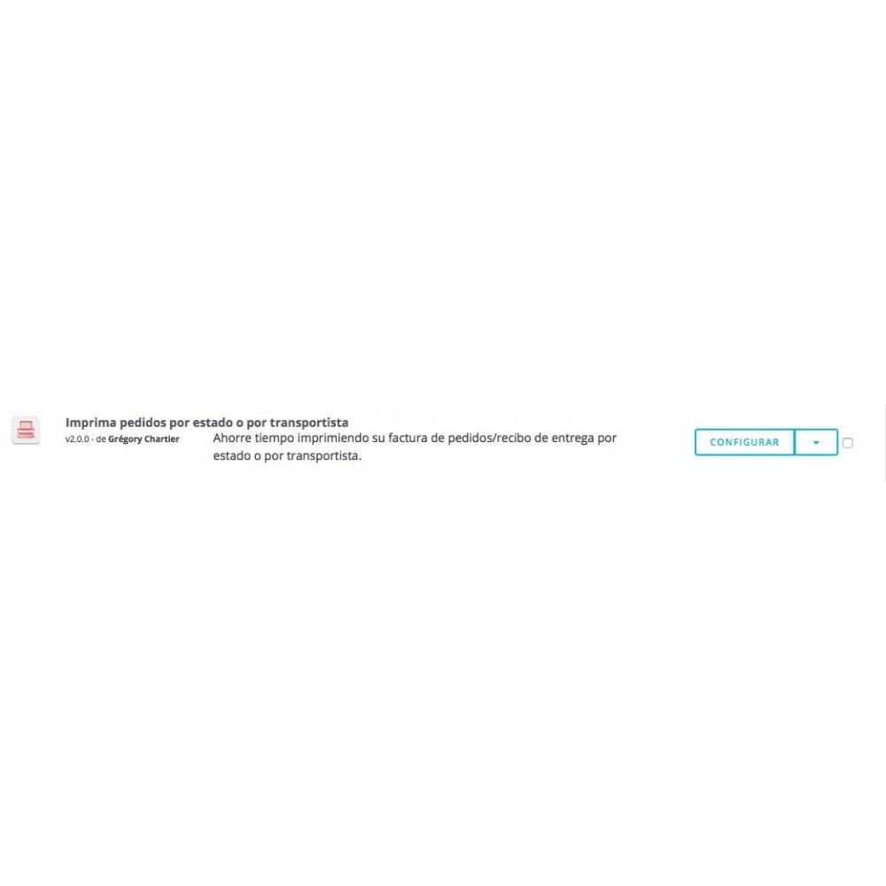 module - Preparación y Envíos - Imprimir órdenes por estado y transportista - 4
