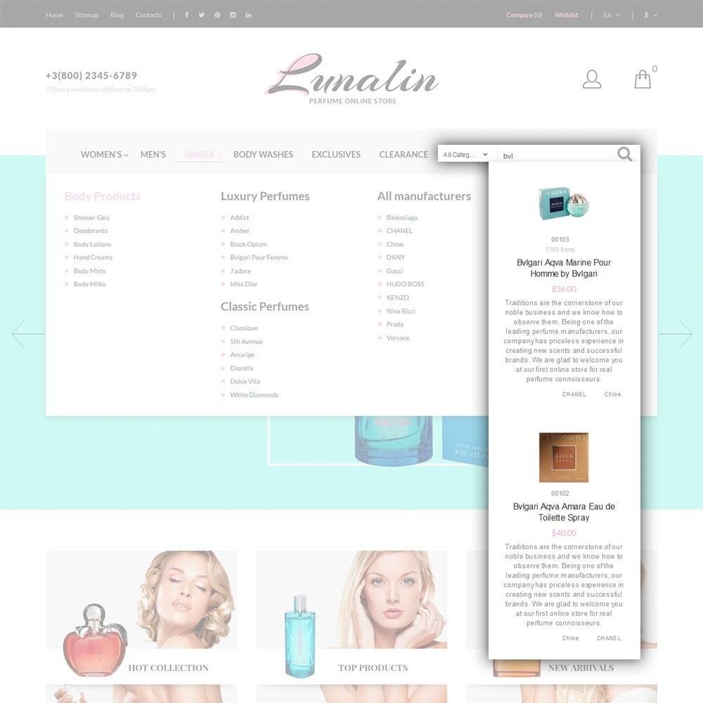 theme - Moda & Calzature - Lunalin - per Un Sito di Negozio Cosmetici - 7