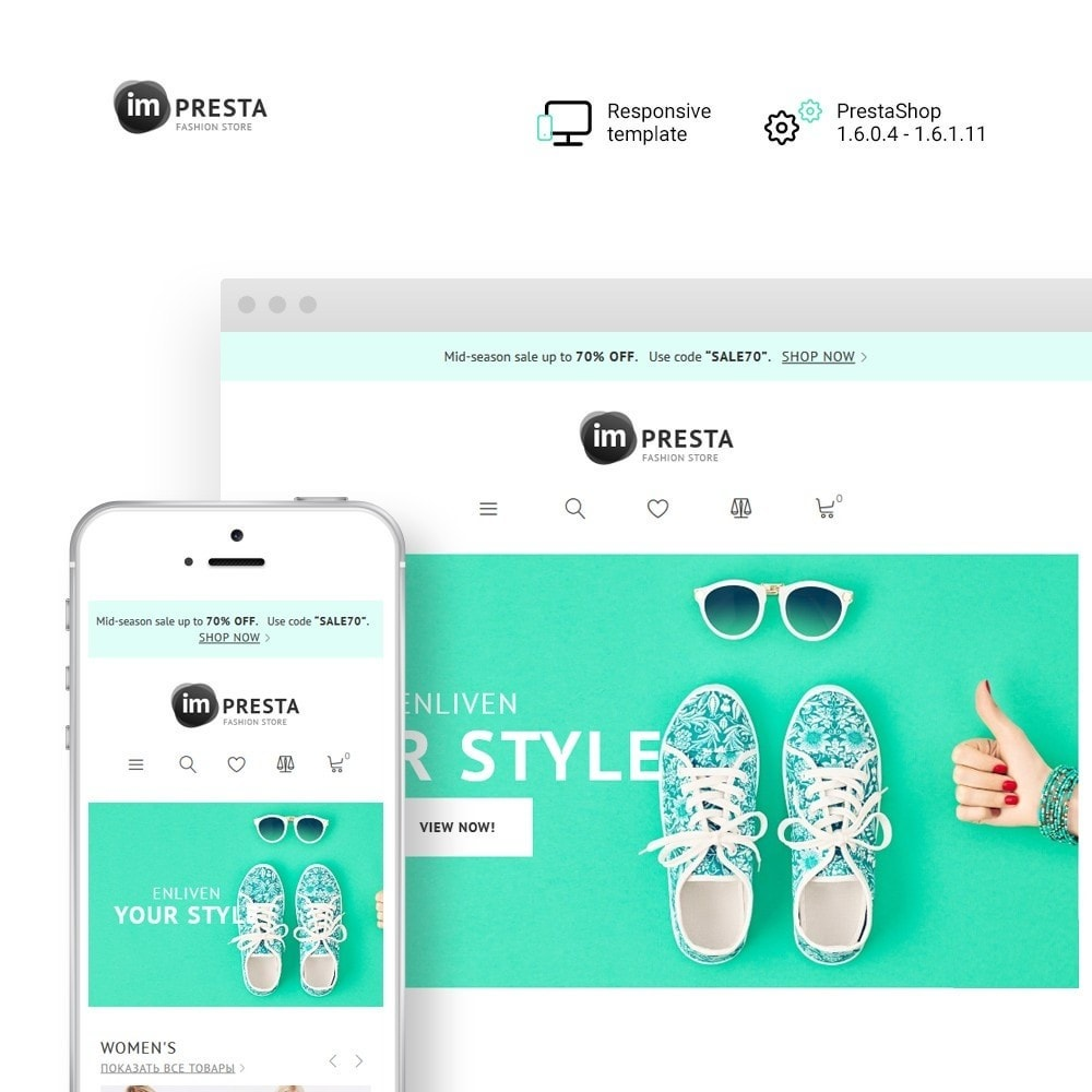 theme - Fashion & Shoes - imPresta - Multipurpose - 1