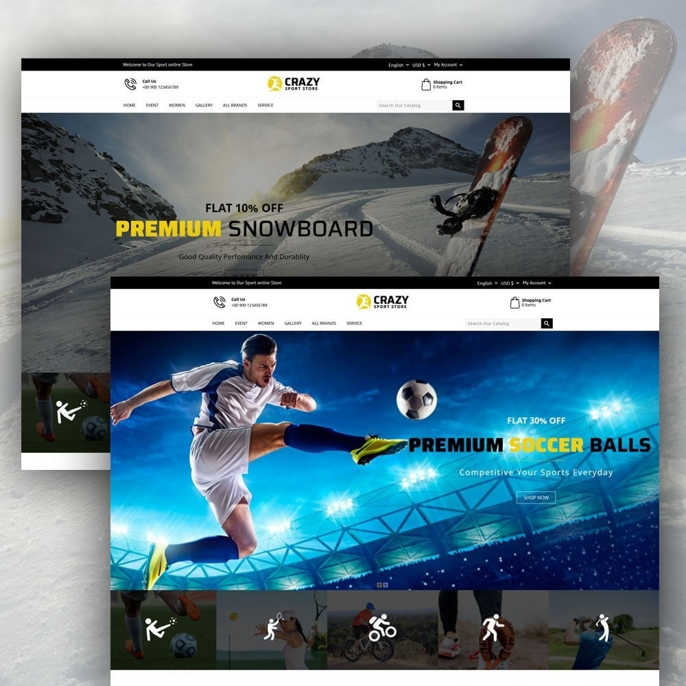 theme - Sports, Activities & Travel - Crazy Sports Store - 3