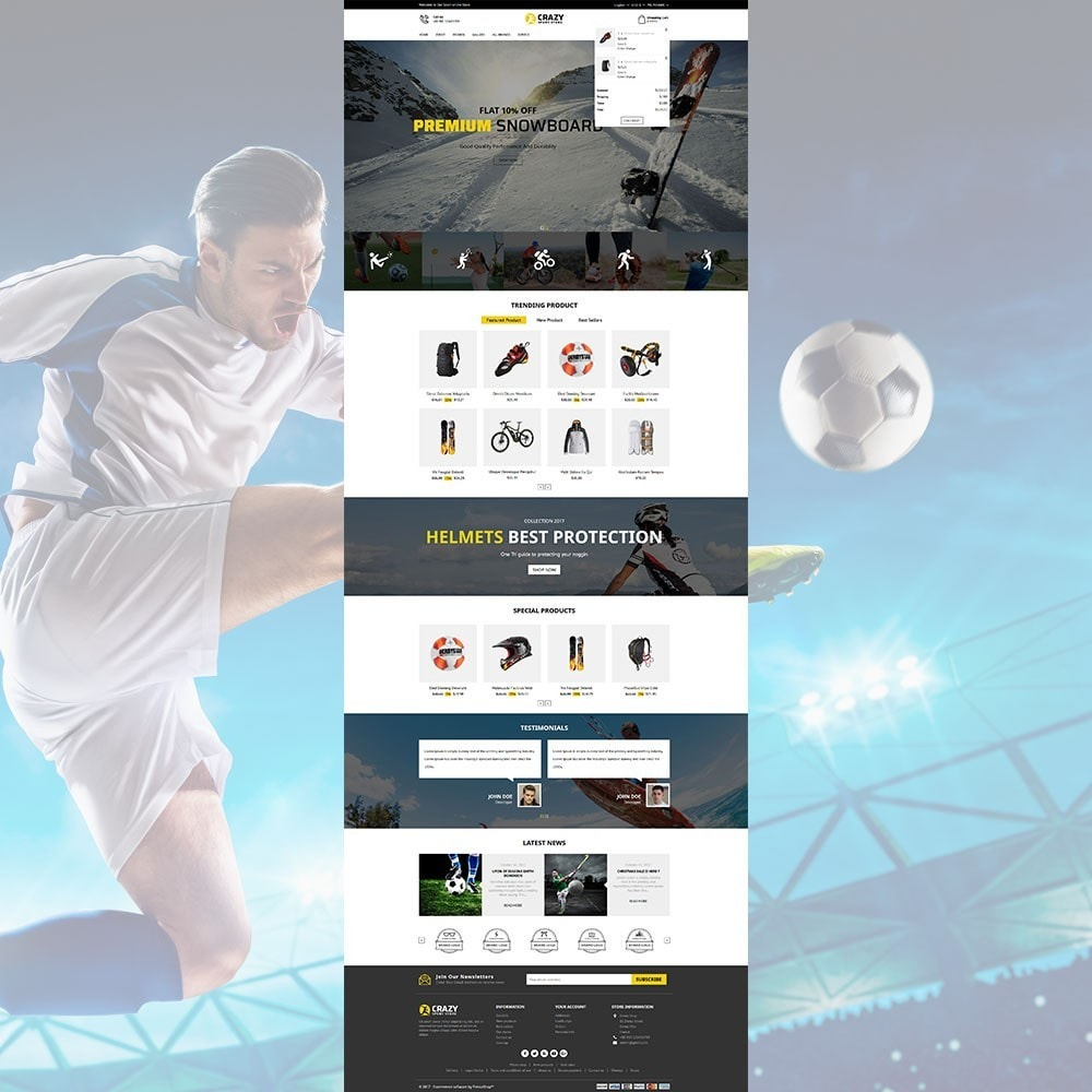 theme - Sports, Activities & Travel - Crazy Sports Store - 4