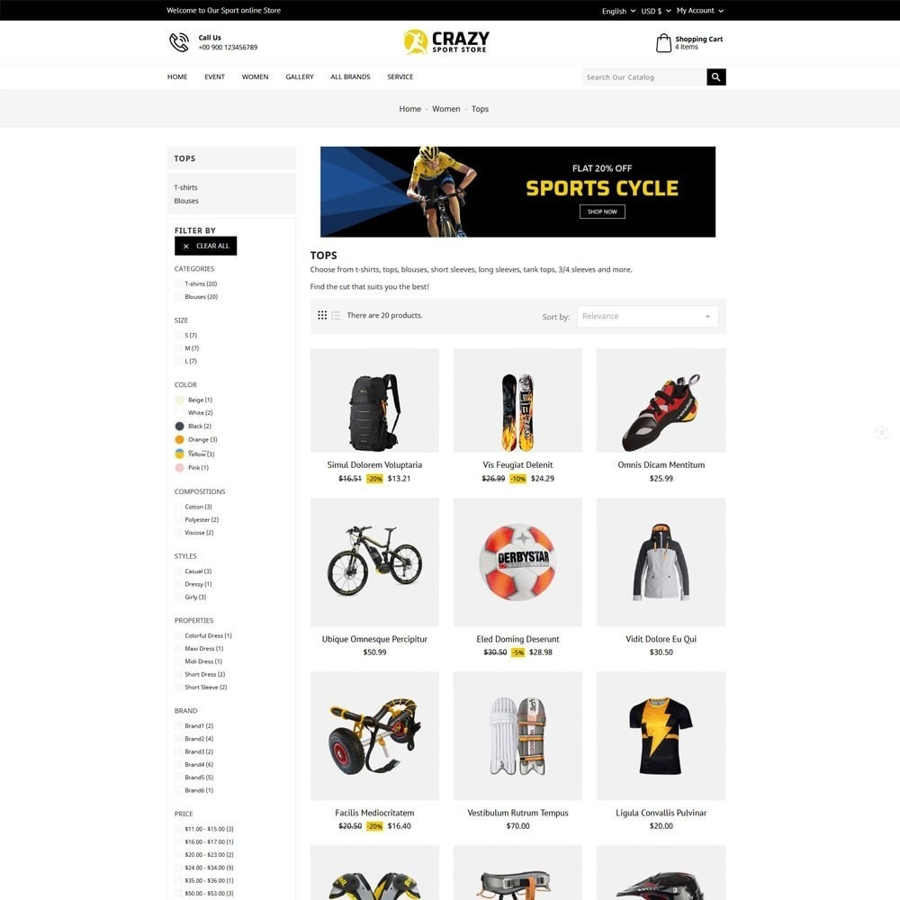 theme - Sport, Loisirs & Voyage - Crazy Sports Store - 5