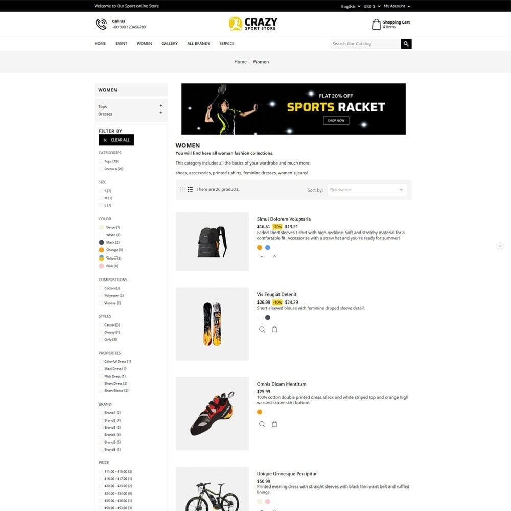 theme - Sports, Activities & Travel - Crazy Sports Store - 6