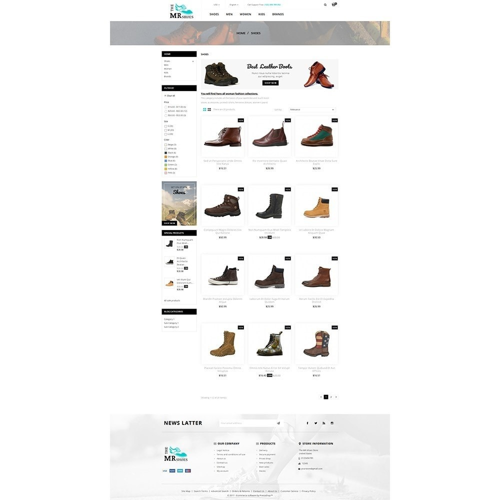 theme - Mode & Chaussures - The MR shoes store - 3