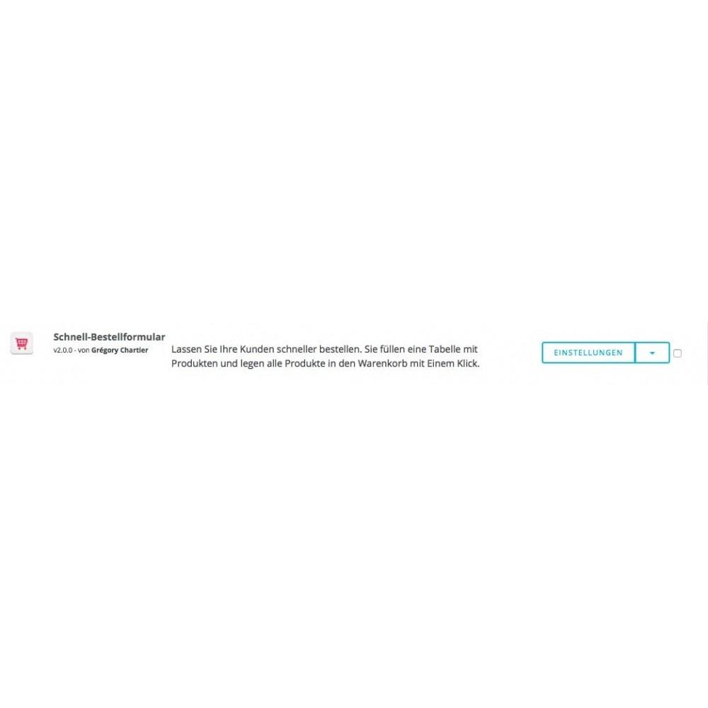 module - Express Checkout Prozesse - Schnell-Bestellformular - 6