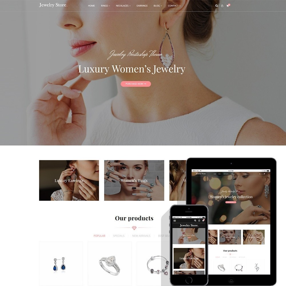 theme - Ювелирные изделия и Аксессуары - Jewelry Store - Premium PrestaShop Template - 1
