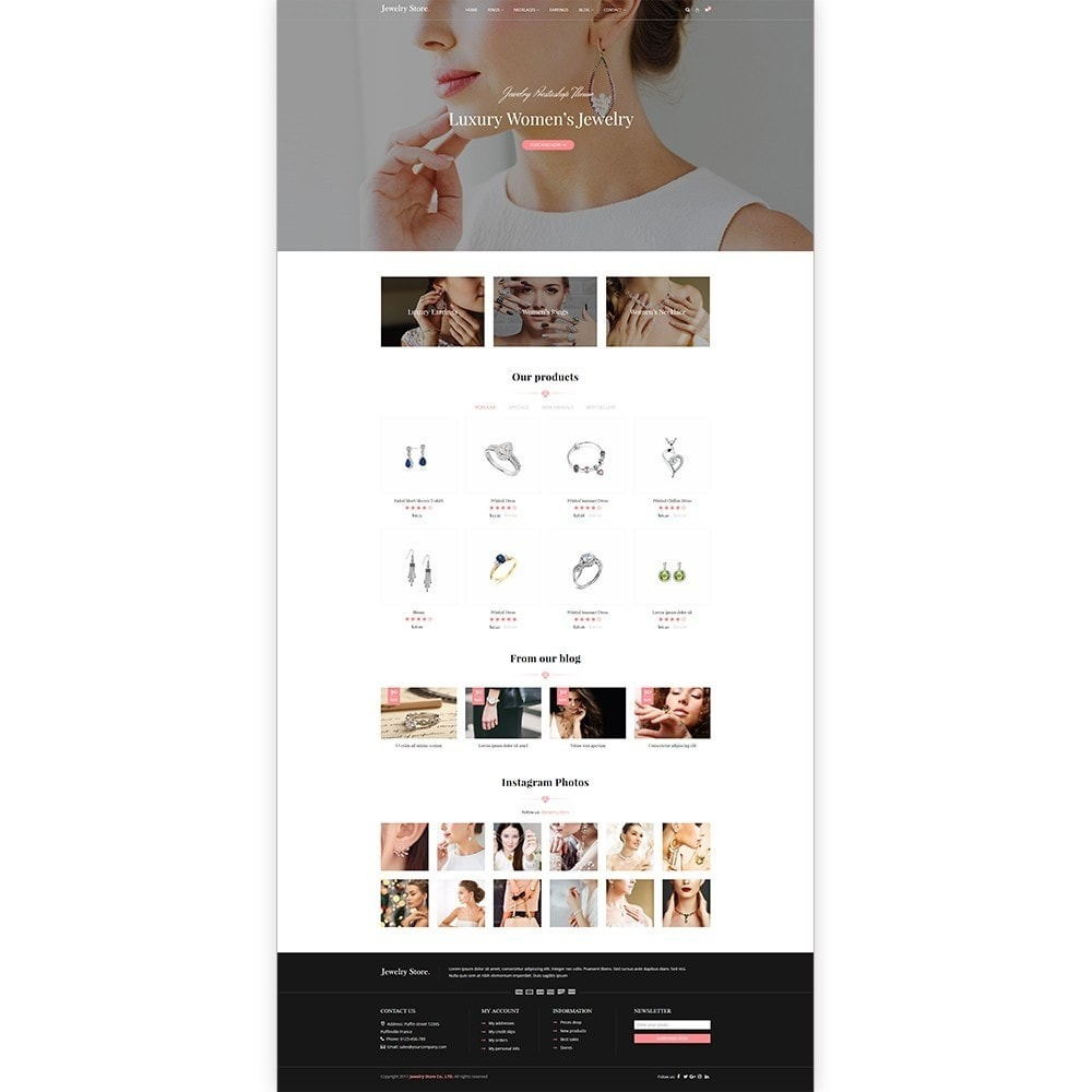 theme - Joalheria & Acessórios - Jewelry Store - Premium PrestaShop Template - 2