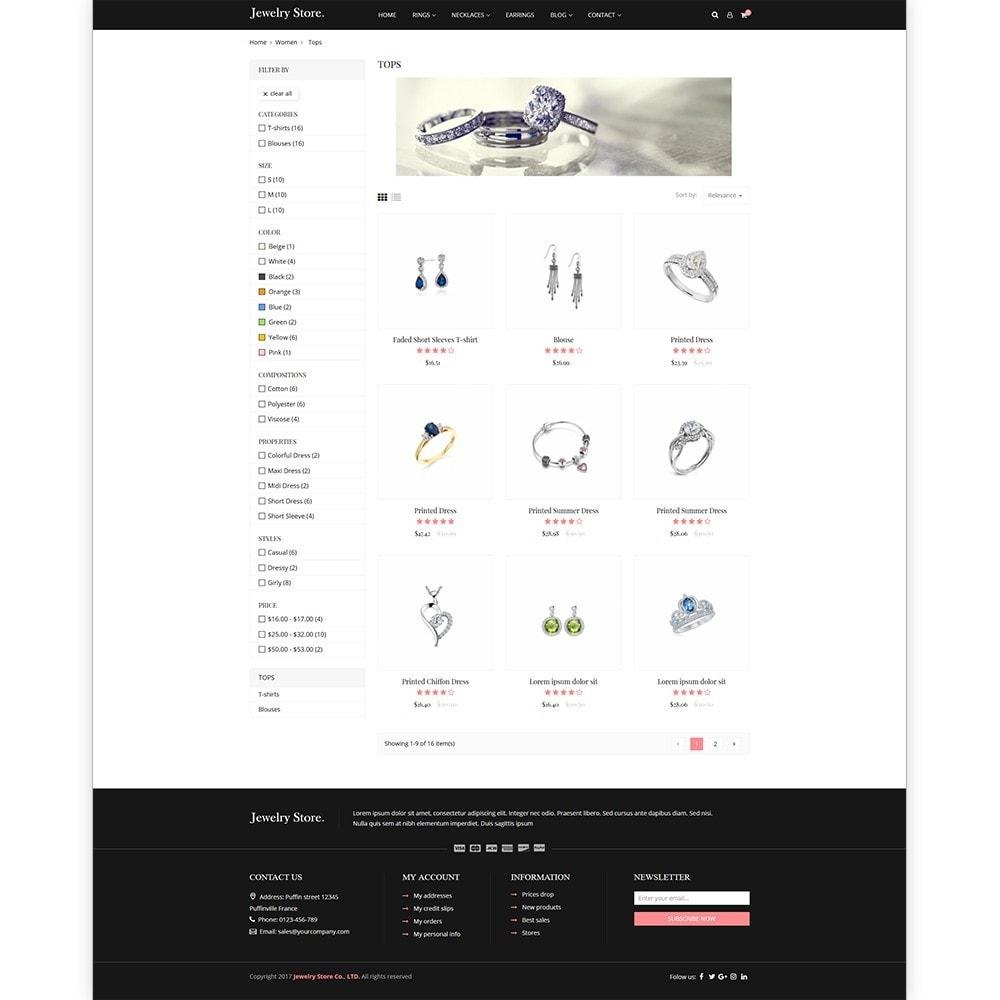 theme - Ювелирные изделия и Аксессуары - Jewelry Store - Premium PrestaShop Template - 3