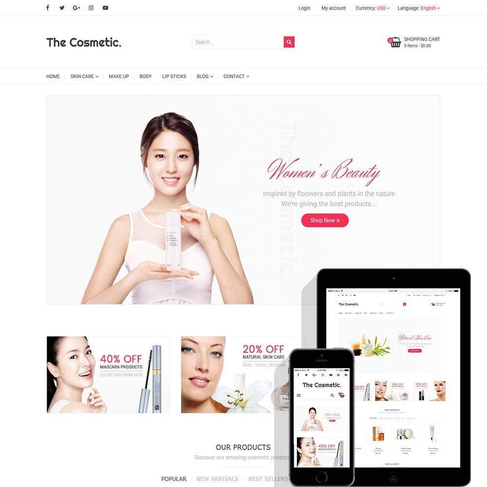 theme - Gesundheit & Schönheit - The Cosmetics - Beauty, health and cosmetic store - 1