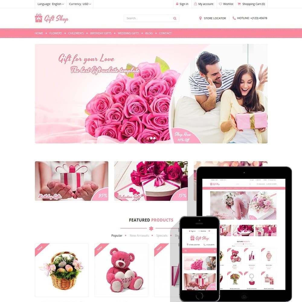 theme - Gifts, Flowers & Celebrations - Gift Shop - For gift, flower, toy & accessories stores - 1