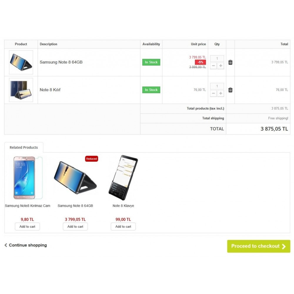 module - Dodatkowe informacje & Zakładka produktu - Extra Product Module In Cart - 3