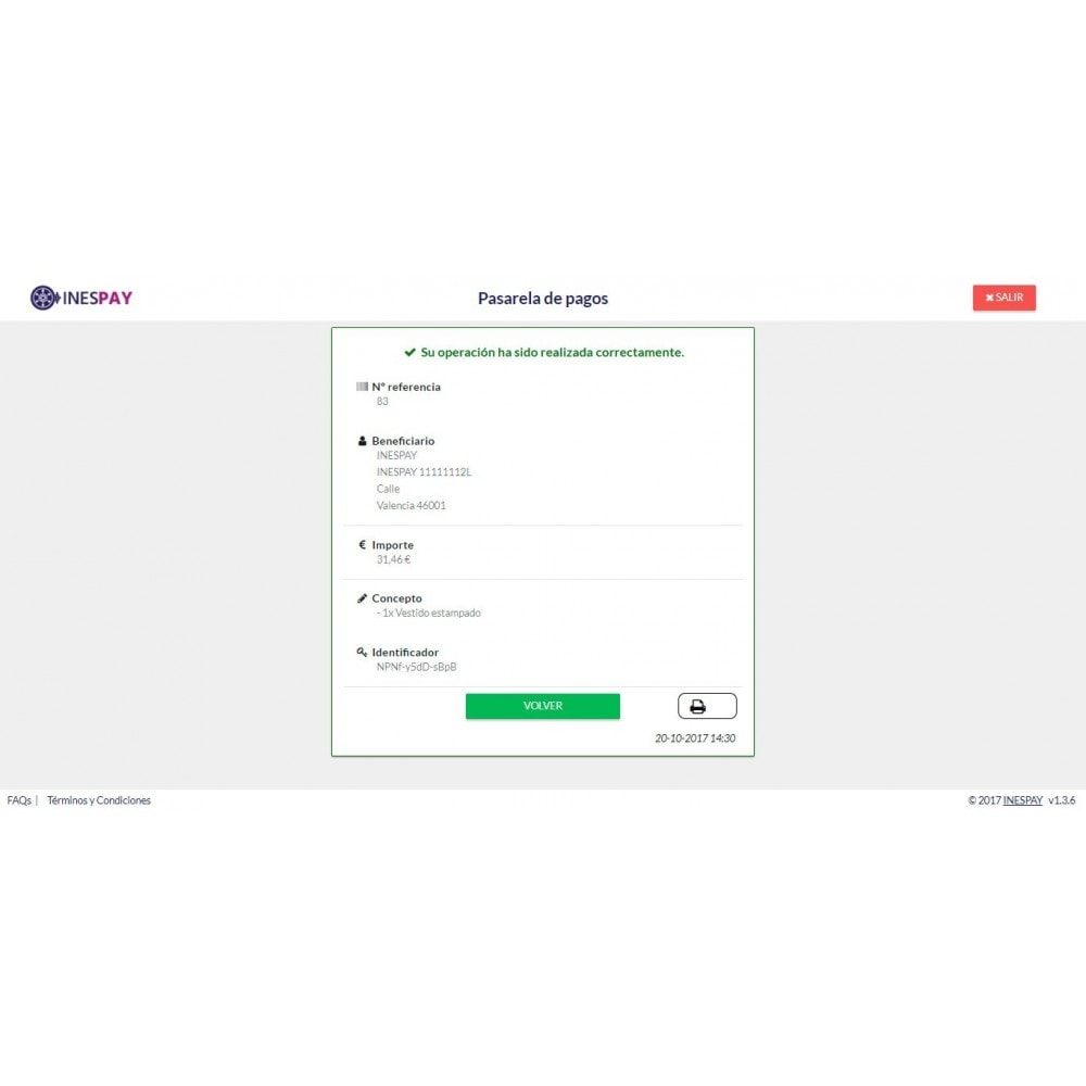 module - Creditcardbetaling of Walletbetaling - INESPAY  payments by online banking - 5