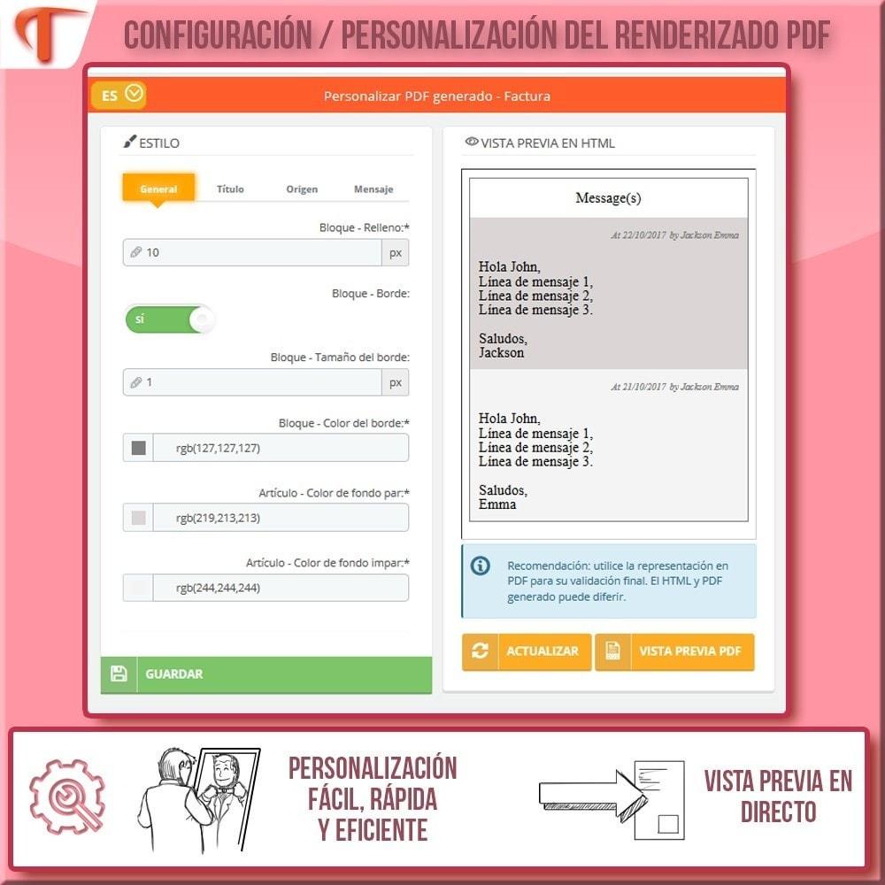 module - Contabilidad y Facturas - Presente mensajes en sus facturas - 5