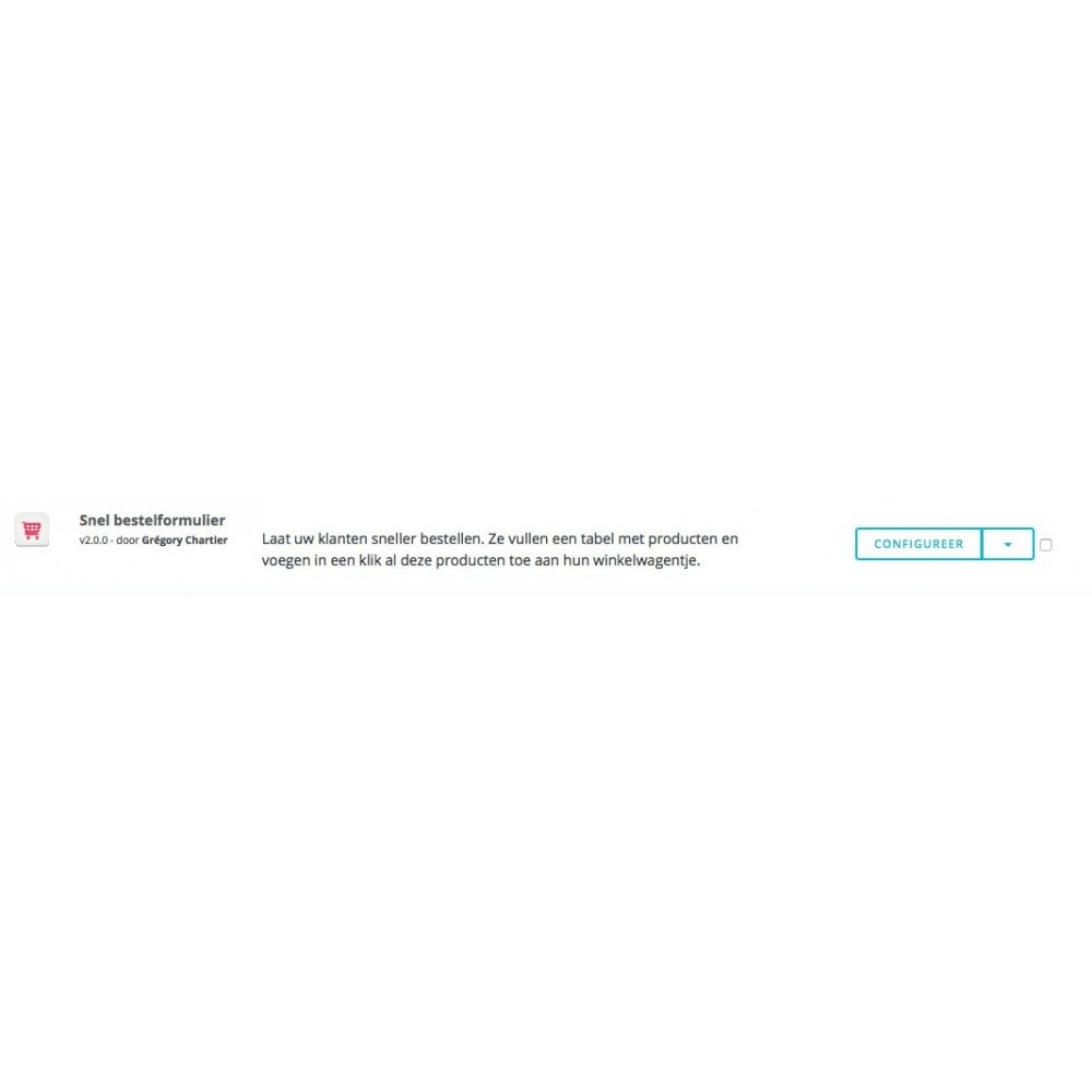 module - Bestelproces - Snel bestelformulier - 6