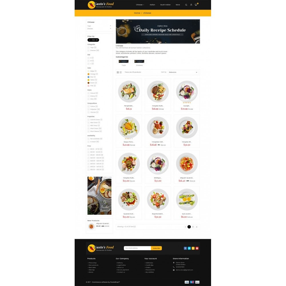 theme - Alimentation & Restauration - Gusto Food - 3