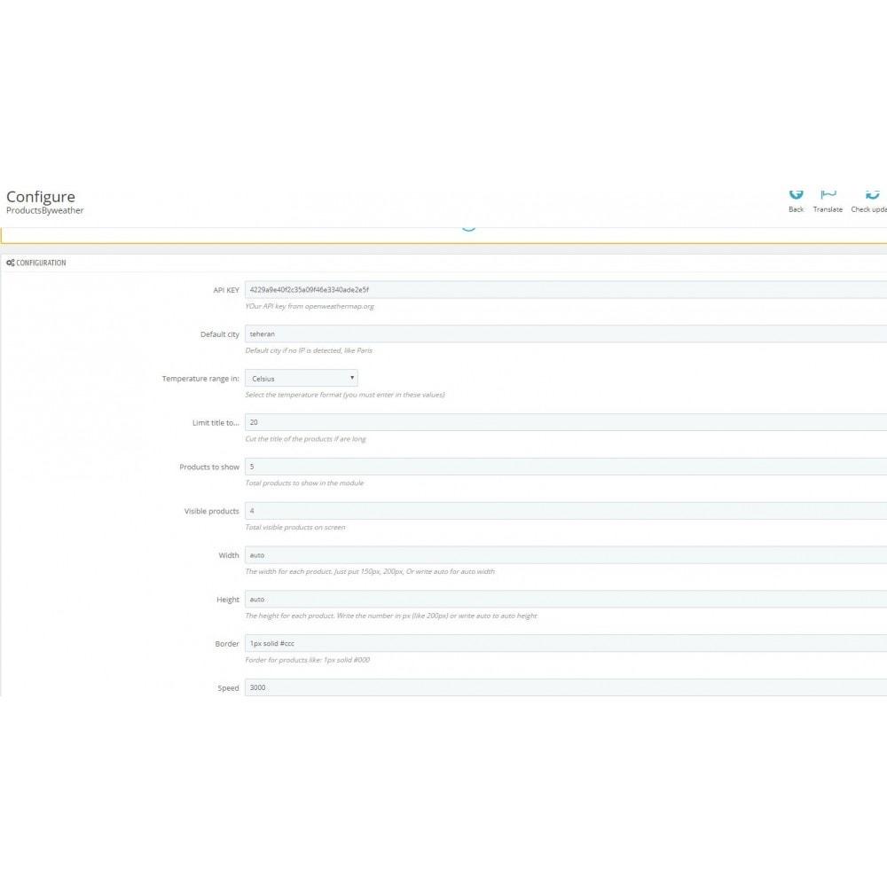 module - Personalización de la página - Products by weather - 5