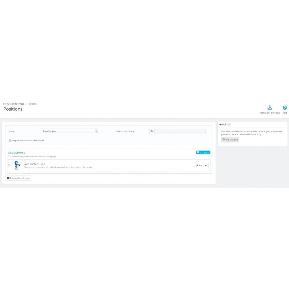 module - Personnalisation de Page - Module Afficher la rubrique contact où vous voulez - 6