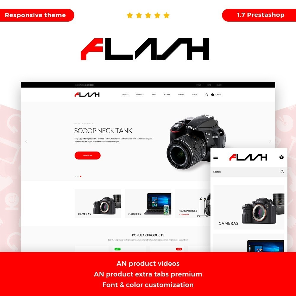 theme - Elektronik & High Tech - Flash - High-tech Shop - 1