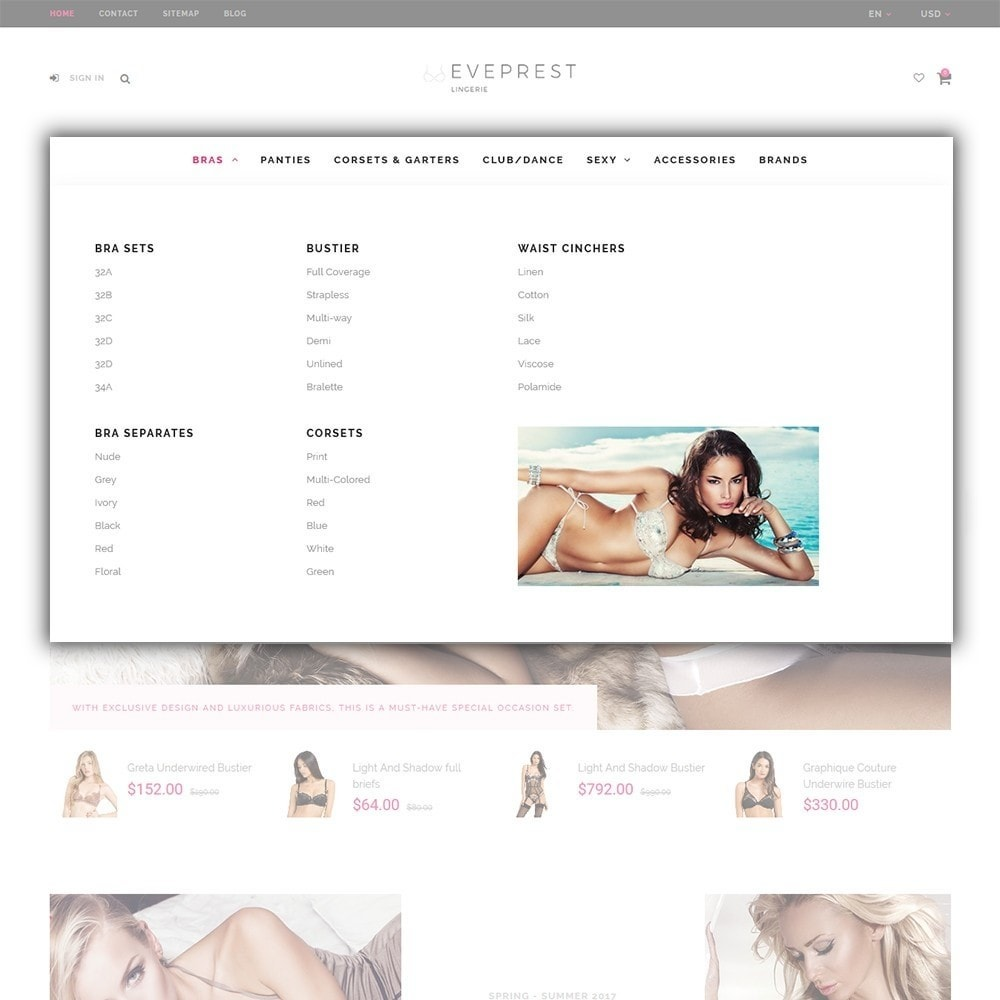 theme - Lingerie & Volwassenen - EvePrest - Lingerie Store - 3