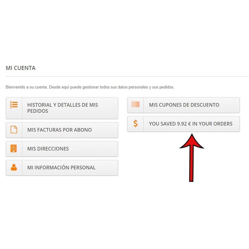 module - Inscripción y Proceso del pedido - Saving Info (Información de ahorro) - 5