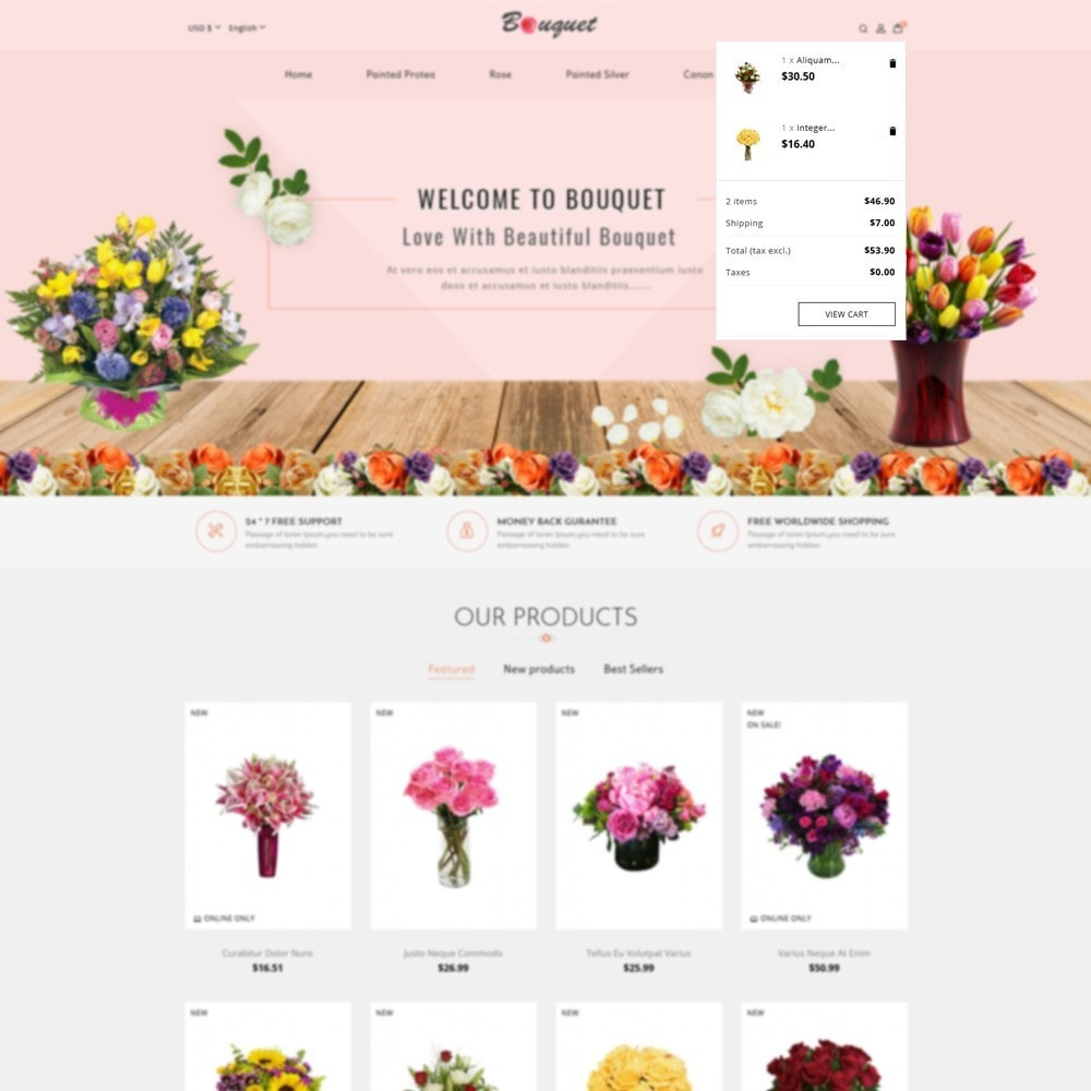 theme - Heim & Garten - Bouquet Flower Shop - 7
