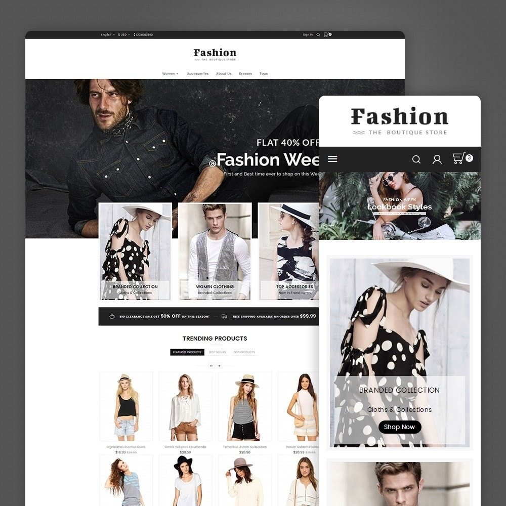 theme - Moda y Calzado - Fashion Apparels - 1
