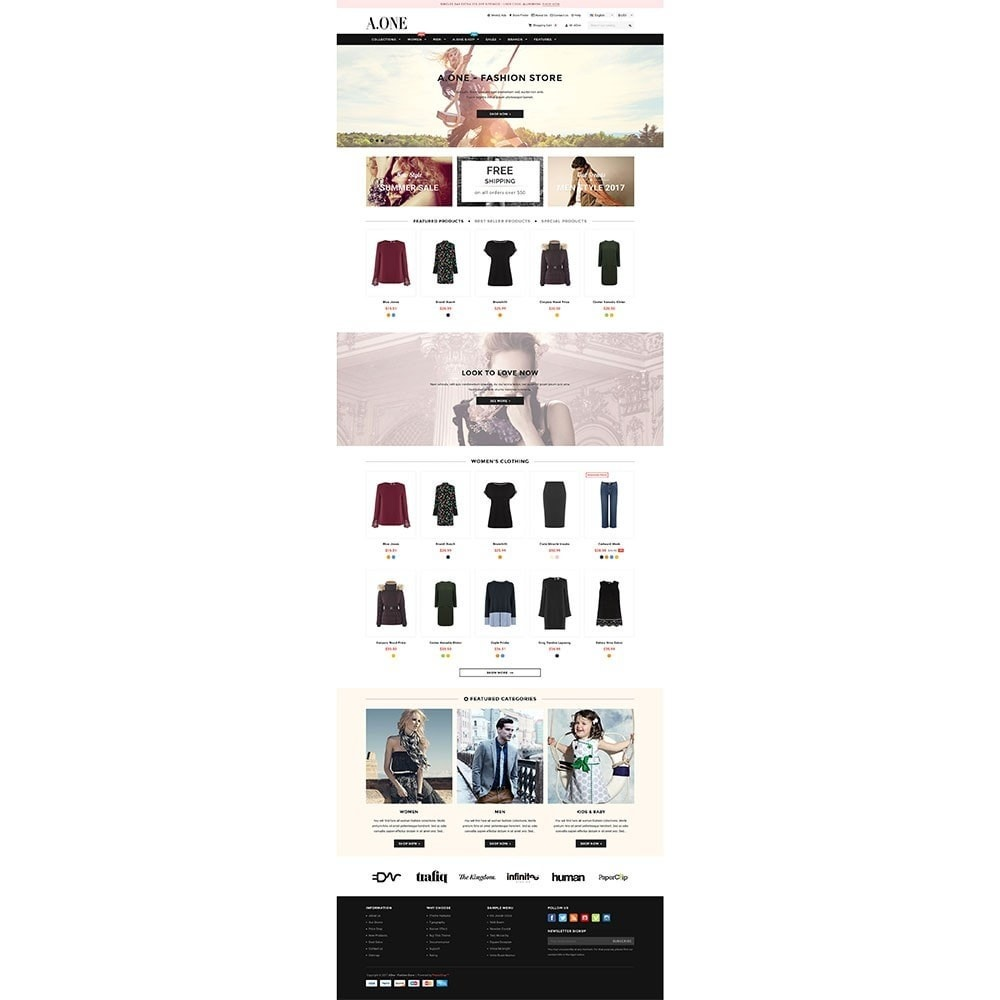 theme - Fashion & Shoes - AOne - Fashion Store - 2