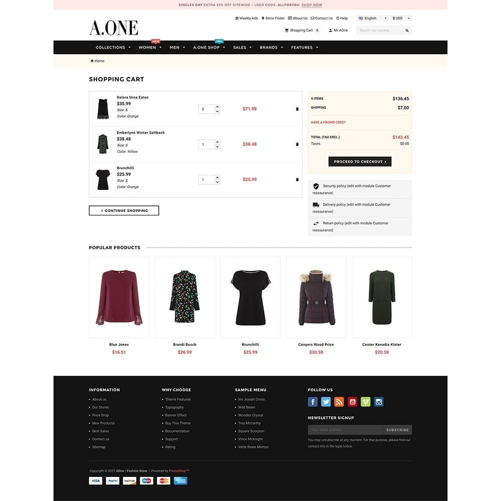 theme - Fashion & Shoes - AOne - Fashion Store - 7
