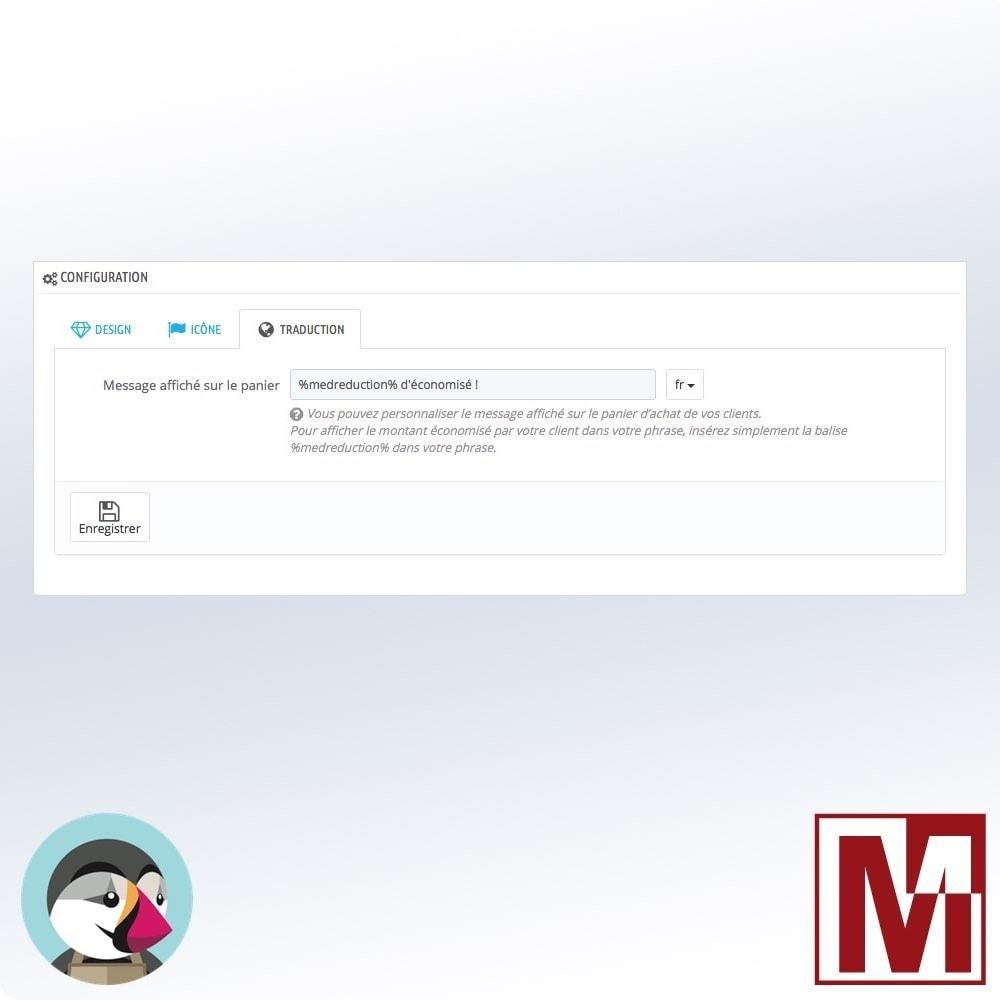 module - Inscription & Processus de commande - Total économisé sur le panier - 4