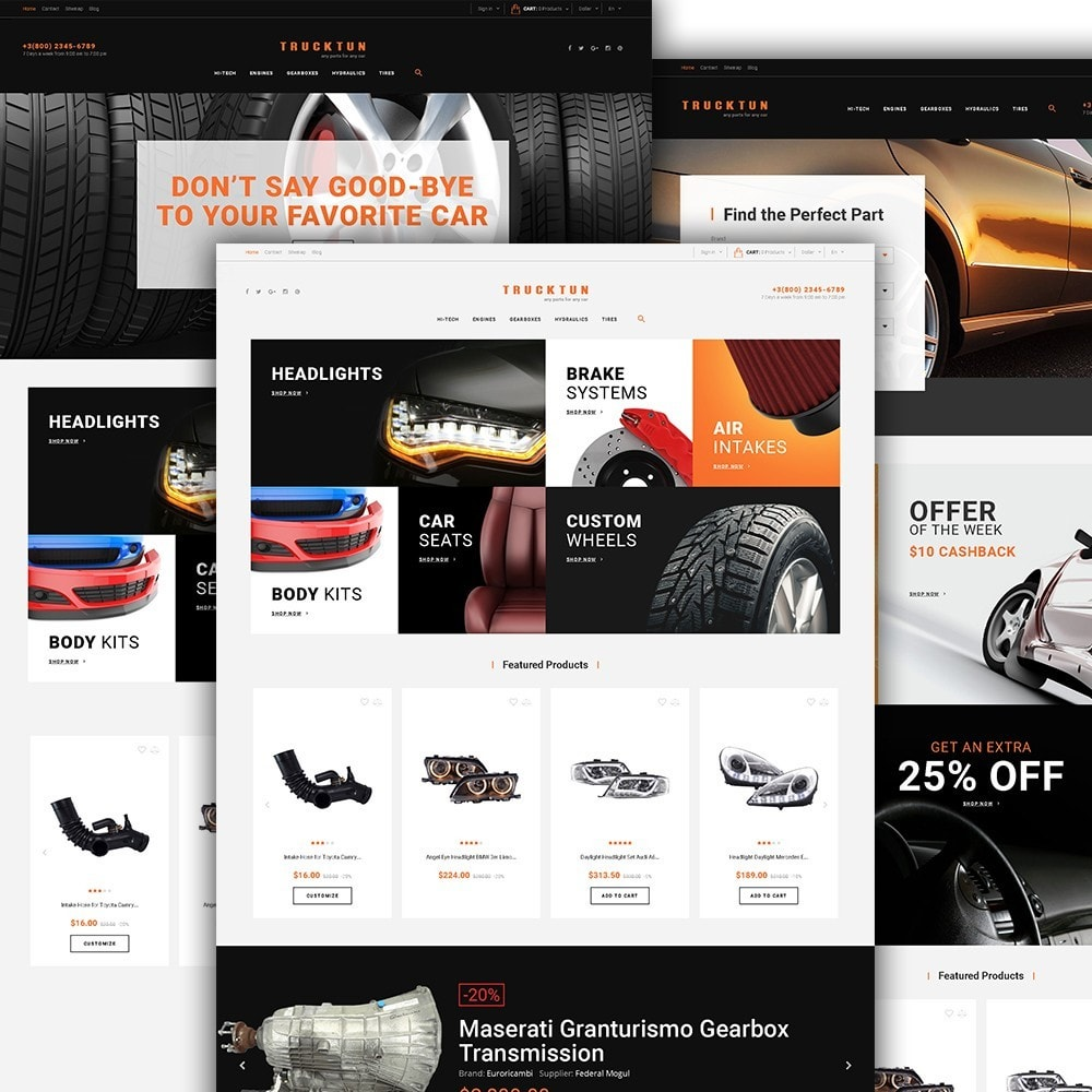 theme - Coches y Motos - Trucktun - para Sitio de Repuestos de coches - 2